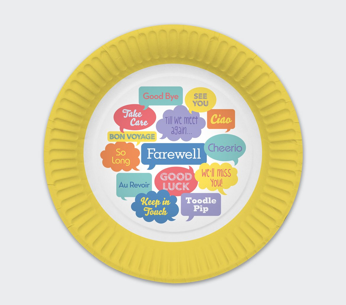 Farewell, Bon Voyage Party Plate