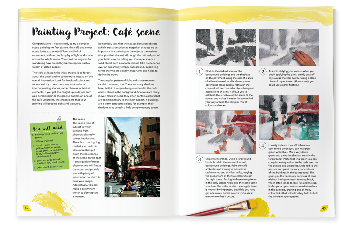 Artmaker Acrylic Book: Painting Project: Cafe Scene