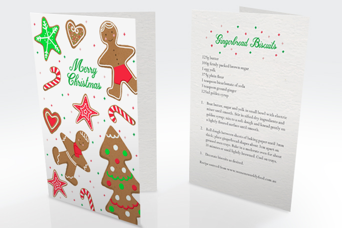 Christmas Card, Front and Back Views