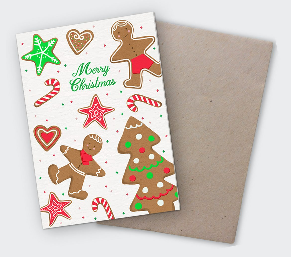 Christmas Card and Envelope
