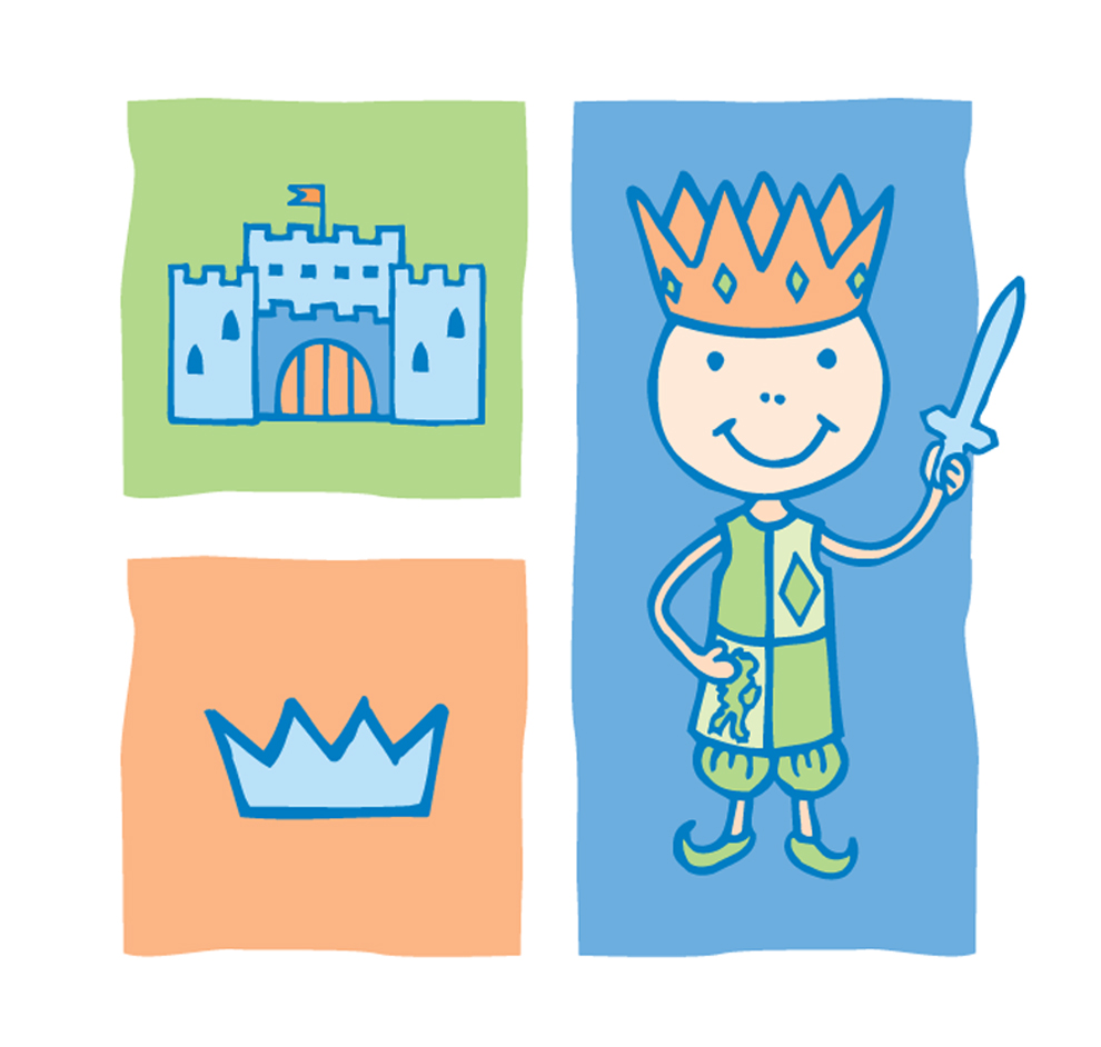 King, Castle and Crown Illustrations